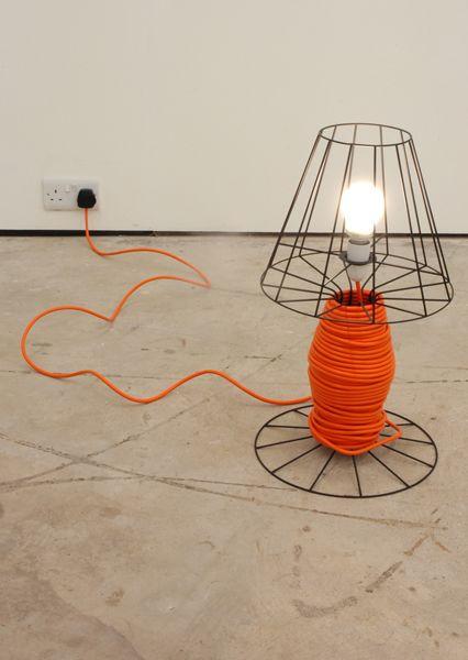 Reel Light . Guy Brown: Nifti Ideas, Good Ideas, Guys Brown, Lights Design, Reel Lights, Exten Cords, Cool Lamps, Men Caves, Extensions Cords