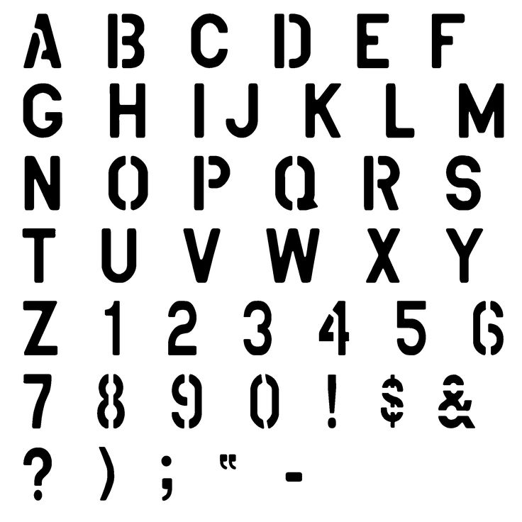 Best Images About Stencil On   Alphabet Worksheets