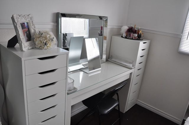 Makeup By Cheryl H Ikea Vanity Redecoration And Makeup