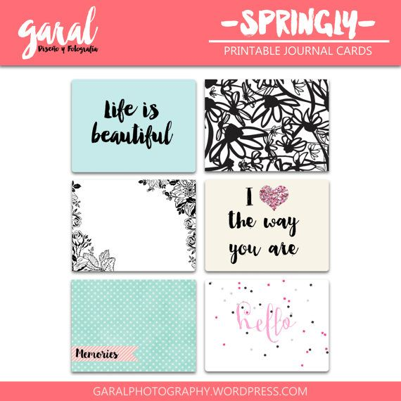 Singly Journal Cards pack 3x4 printable journal by marcegaral