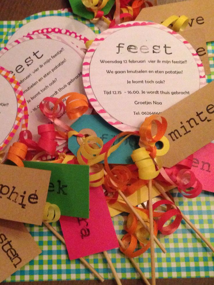 Lolly uitnodiging voor een kinderfeestje - Lollipop invitation kids party