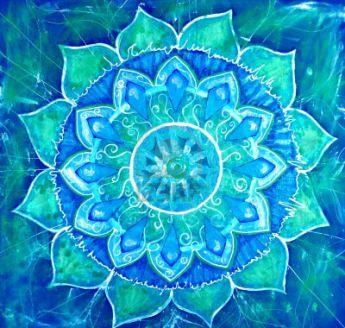 Quinto ChakraIl suo nome in sanscrito è VISUDDHAchakra della gola o Laringeo, centro della comunicazioneSimbolo: loto blu a sedici petali