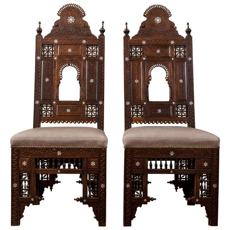 Pair Of Moroccan North African Chairs