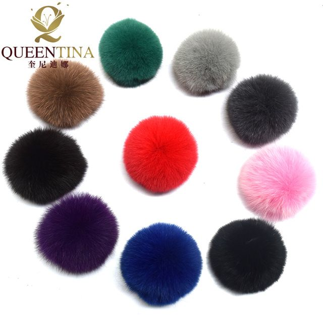 For Sale $8.96, Buy Real Fox Fur Pompom Genuine Fur Pom Poms Ball for Hats&Caps Big Natural Fur Pompon Ball For Shoes Bags Accessories Candy Colors