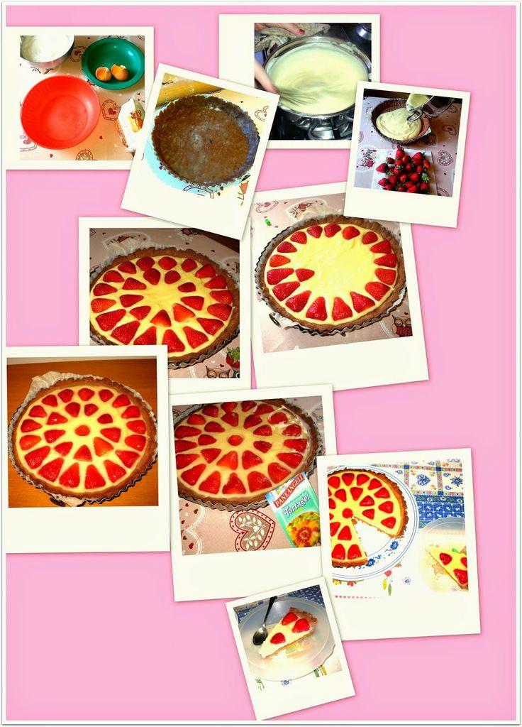 Crostata con Crema e Fragole - Fragola e Cannella