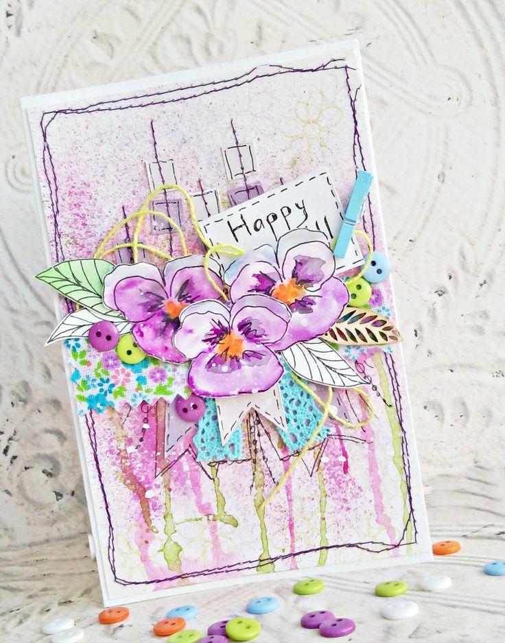 Картинки пожеланиями, открытки на 8 марта своими руками нарисованные акварелью