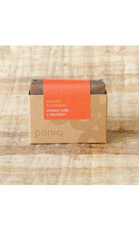 Pomeranč a eukalyptus s rakytníkem - mýdlo Ponio. Využijte naší dopravy zdarma při nákupu  nad 890 Kč nebo výdejního místa v Praze zdarma.