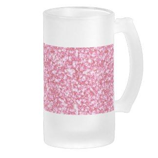Girly Pink Glitter Printed Frosted Beer Mug