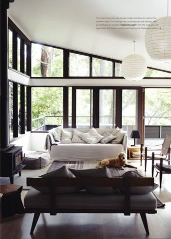 Clerestory windows in bedroom, hallway, living room and kitchen