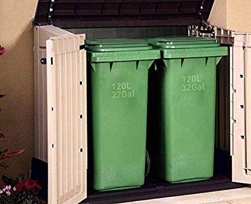 Mülltonnenbox von Keter Store it Out Midi, Schwarz, 845L