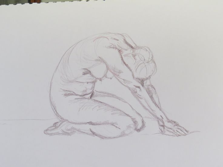 Life drawing 10 minute pose