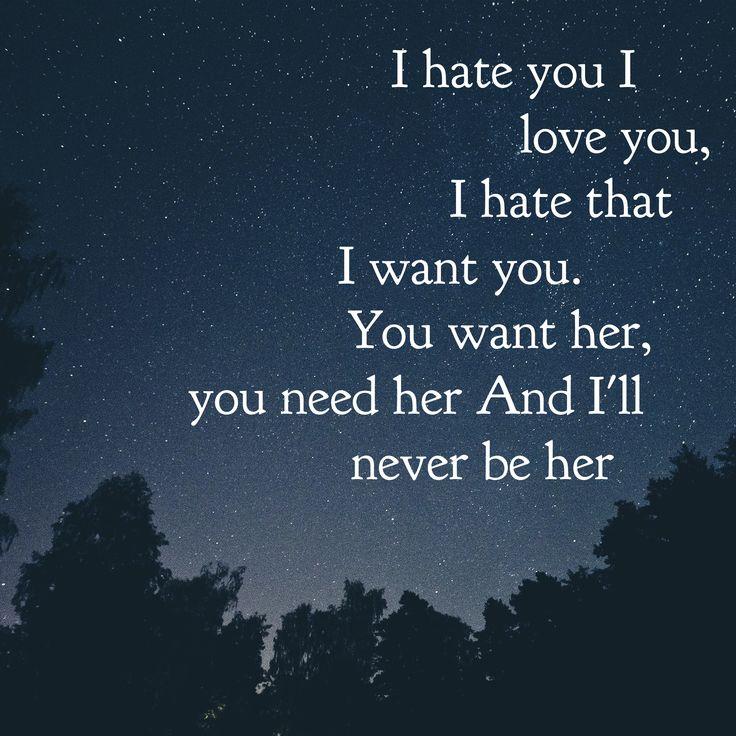I Hate You I Love You - Gnash feat Olivia O'Brien #WordSwagApp