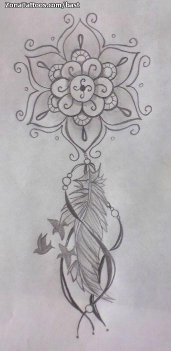 Diseño/Plantilla tatuaje Atrapasueños