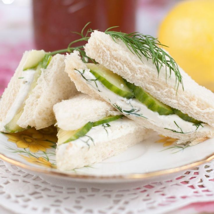 English Cucumber and Dill Tea Sandwiches are a refreshing, delicious recipe for a lunch, brunch, shower, girls' get-together, or afternoon tea party!