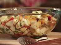Apple and Pear Fruit Salad with Honey-Lime Vinaigrette Recipe : Nancy Fuller : Food Network
