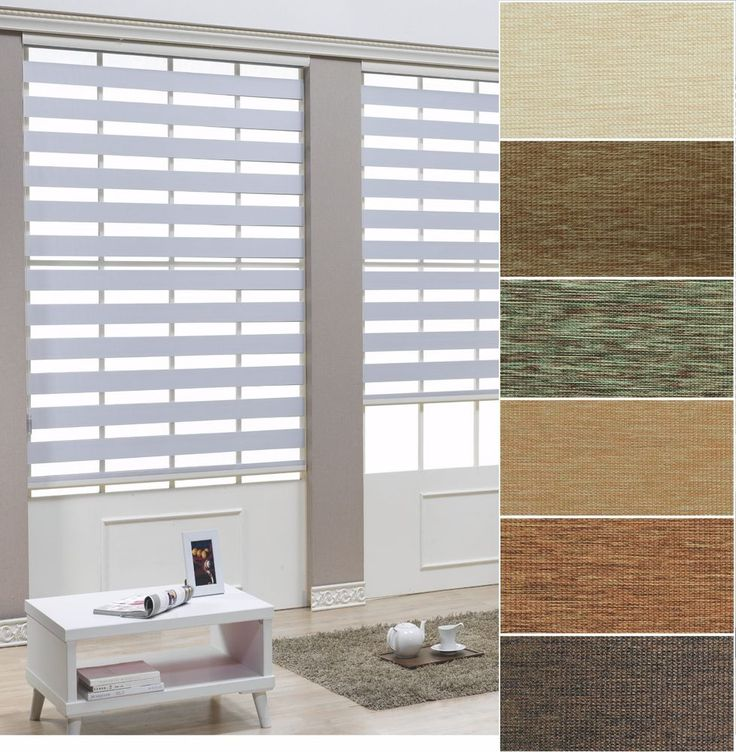 "B&C Double Roller blind Zebra shade Home Window blind Width Size from 15"" to 32"" #BC"