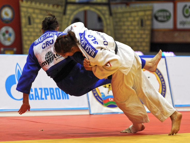 Baku Open 2012. Sraka throws for Waza ari, before holding for Ippon. Gold medal to her!