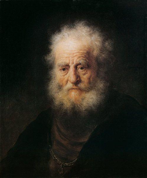 Rembrandt van Rijn - Head of an old man (Study)