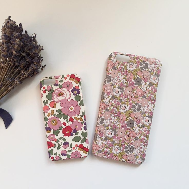 """. Liberty fabric iPhone & Galaxy cases. My shop link in profile. . Left: Betsy Right: Delilah Cavendish - Thanks to @yyifl"