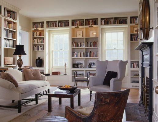 Book shelf Bücherregale im Wohnzimmer