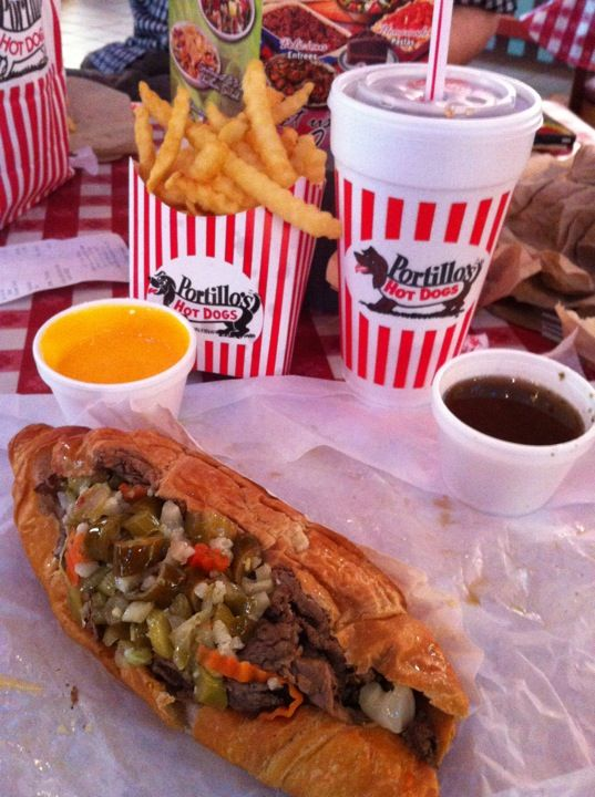 Portillo's. Chicago dogs and Italian beef.