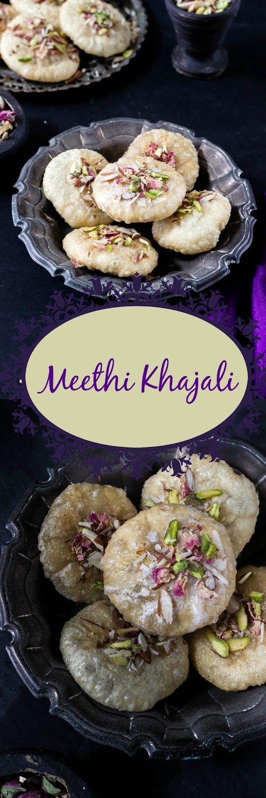 Jagruti's Cooking Odyssey: Meethi Khajali - Gujarati Style Sweet Flaky Fried Biscuits #Dusserhaspecial #Dashera #Vijayadashmi