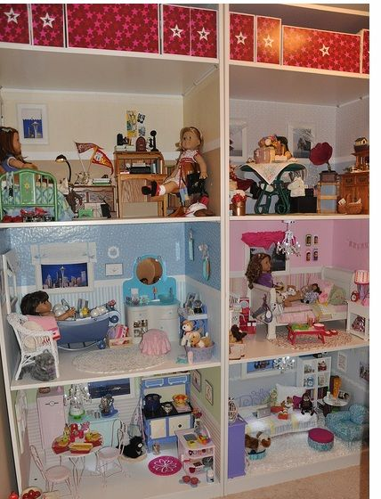 Incredible doll room for American Girl dolls