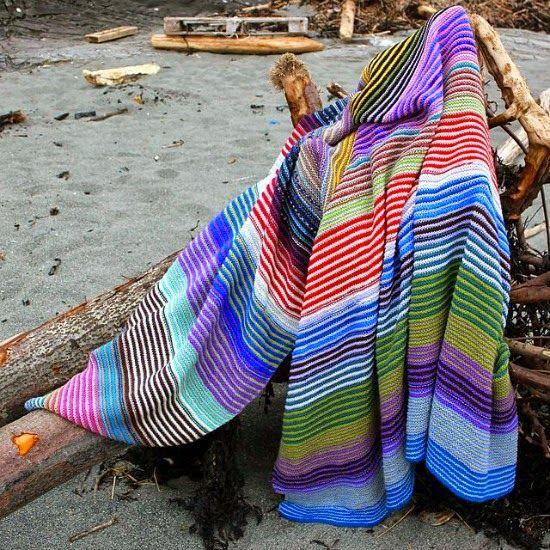 Malha a Malha   Handmade Life: mantas às riscas que adoro   my favorite  striped ...