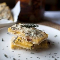 Crispy Polenta with herbs and zola