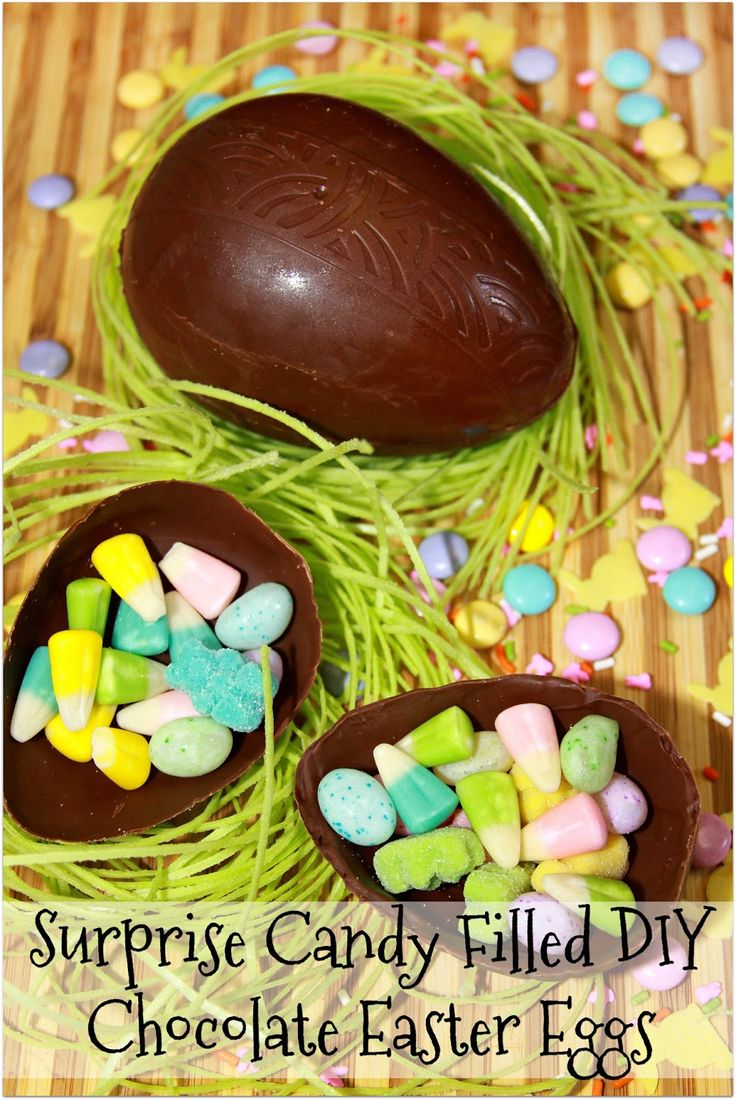 Surprise Candy Filled DIY Chocolate Easter Eggs #MovieMonday
