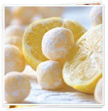 Truffes citron chocolat blanc