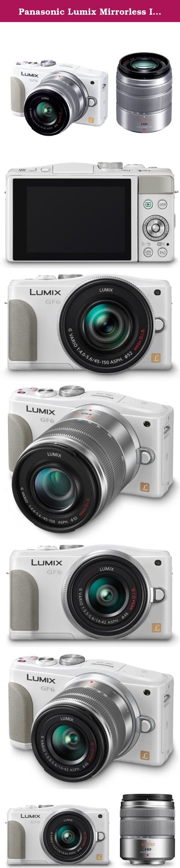"Panasonic Lumix Mirrorless Interchangeable Lens Camera Lumix Gf6 Double Zoom Lens Kit Standard Zoom Lens / Telephoto Zoom Lens Comes with White Dmc-gf6w-w - International Version (No Warranty). Double zoom lens kit ""14-42mm / F3.5-5.6 II standard zoom lens"" and of ""45-150mm / F4.0-5.6 telephoto zoom lens"" comes. 16 million pixel Live MOS sensor / newly developed Venus Engine / Low Light AF equipped. 0.5 seconds fast start-up and high-speed AF / face-to-face tilt touch panel monitor...."