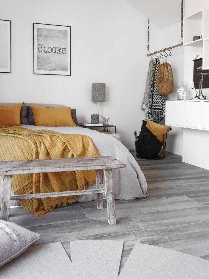 1001 Secrets Pour Reussir La Deco Jaune Moutarde Decoration Chambre Gris Chambre Gris Et Jaune Deco Jaune Moutarde