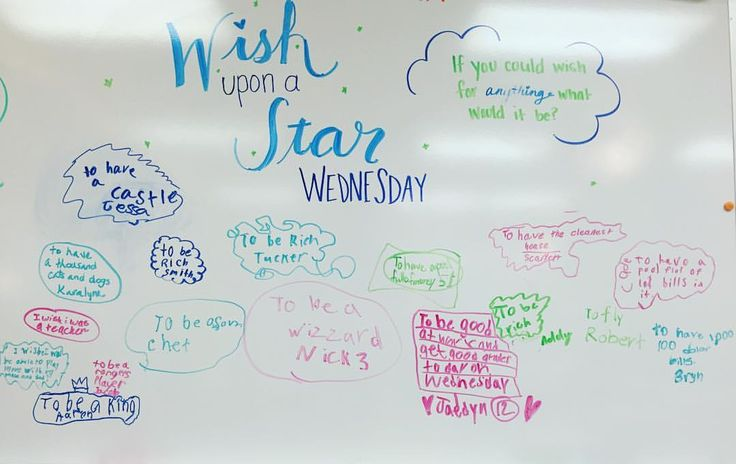 WISH UPON A STAR WEDNESDAY! #miss5thswhiteboard