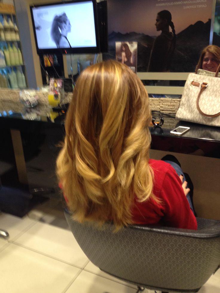 Blond hair sun kiss