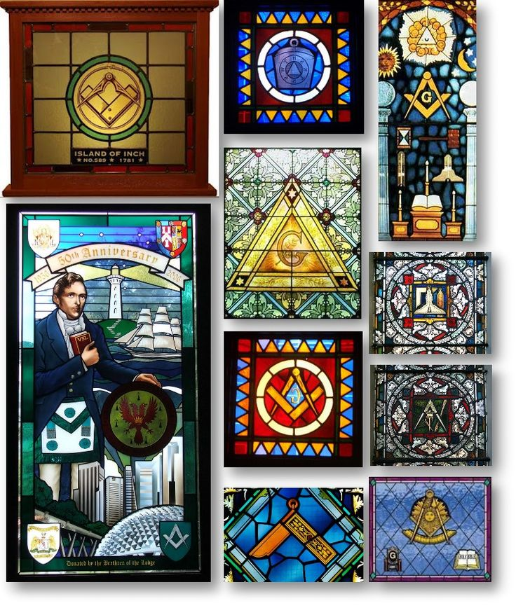 Masonic Stained Glasses.