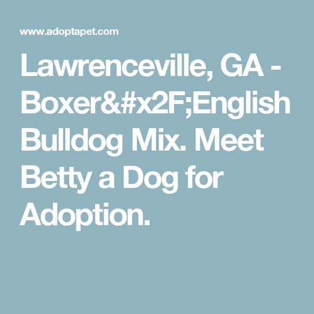 Lawrenceville, GA - Boxer/English Bulldog Mix. Meet Betty a Dog for Adoption.