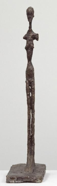 Alberto Giacometti 'Standing Woman', c.1958–9, cast released by the artist 1964 © The Estate of Alberto Giacometti (Fondation Giacometti, Paris and ADAGP, Paris), licensed in the UK by ACS and DACS, London 2014