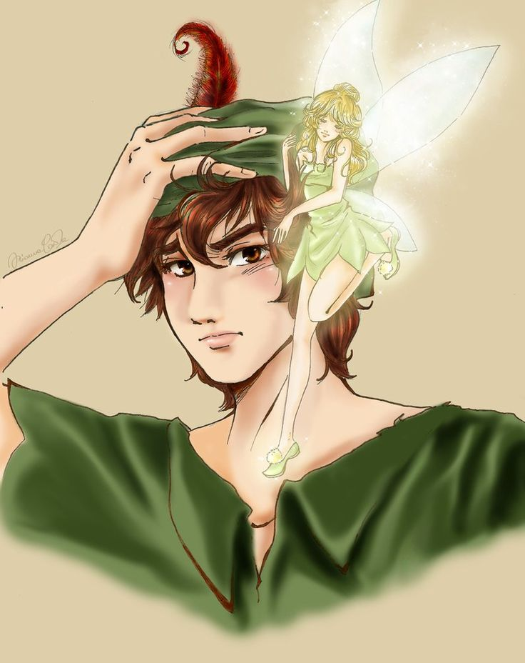 Peter Pan and tinkerbell by_acchanchangmin