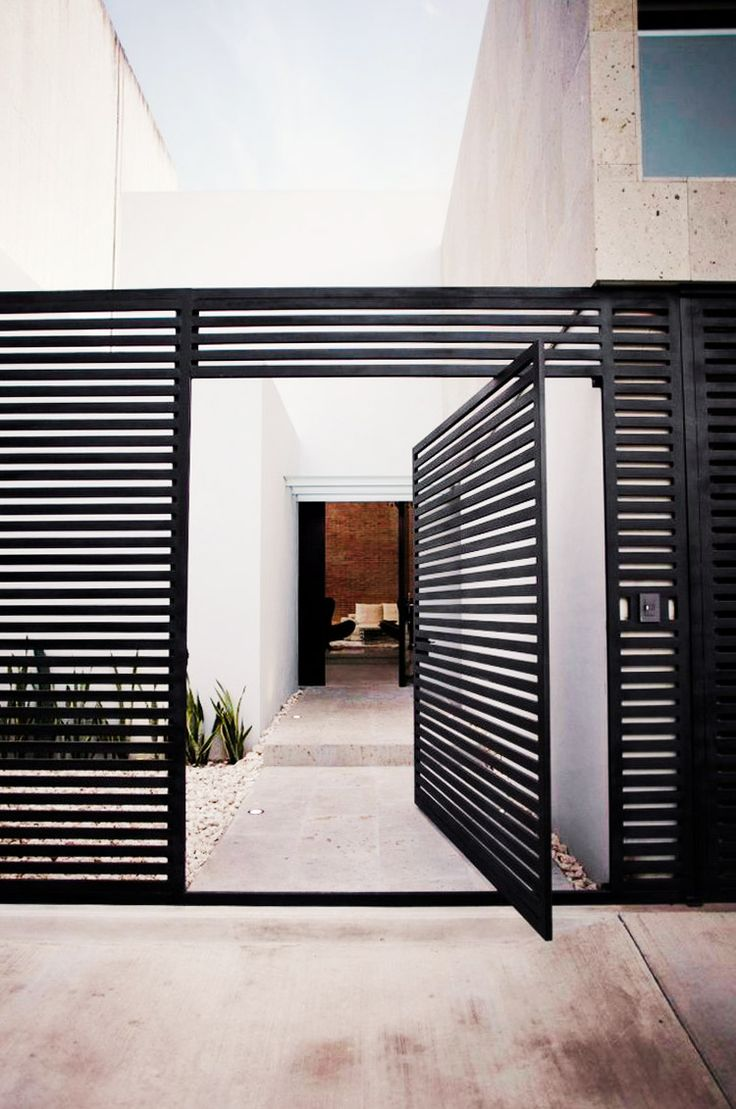 Black slats as front door