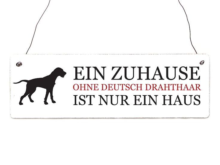 Türschild EIN ZUHAUSE - DEUTSCH DRAHTHAAR Hund von Interluxe via dawanda.com