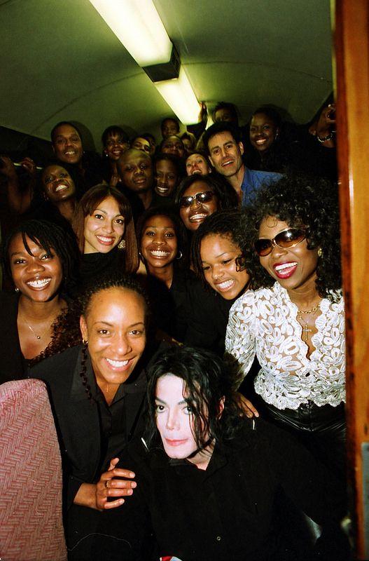 Michael Jackson Patti Boulaye Uri Geller & Gospel Choir Train to Exeter June 2002 070