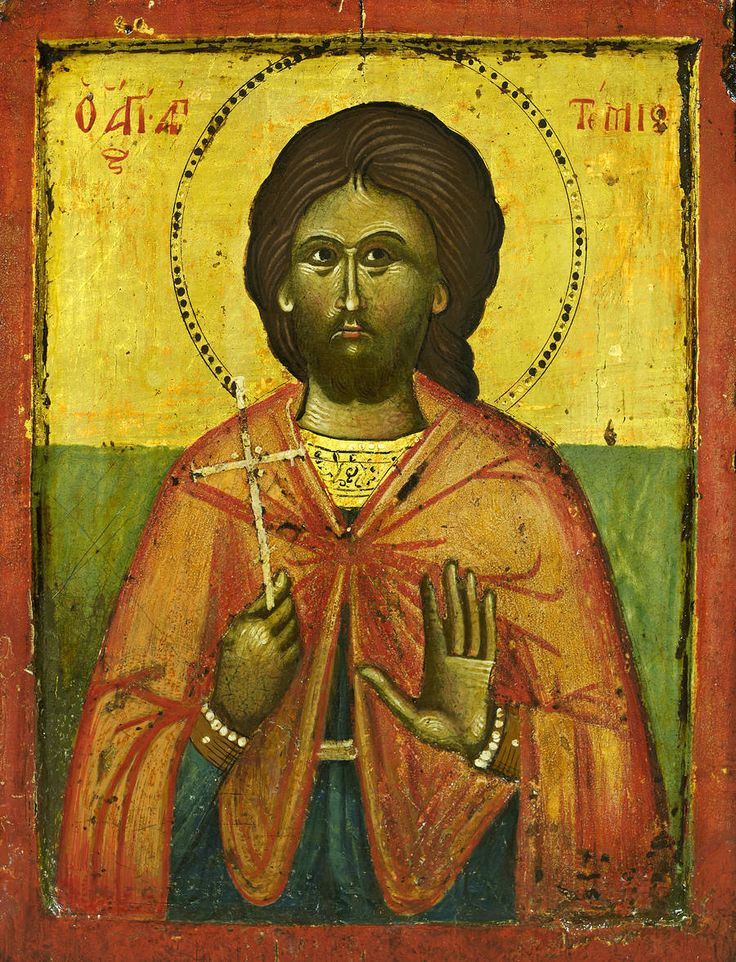 Detailed view: KK034. Saint Artemios- exhibited at the Temple Gallery, specialists in Russian icons