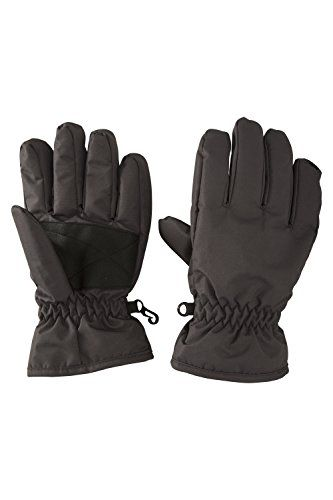 From 8.49 Mountain Warehouse Kids Ski Gloves - Snowproof Elastic Cuffs Warm Snowproof Fleece Lined & Comfortable- Great To Keep Hands Warm Dark Grey Small