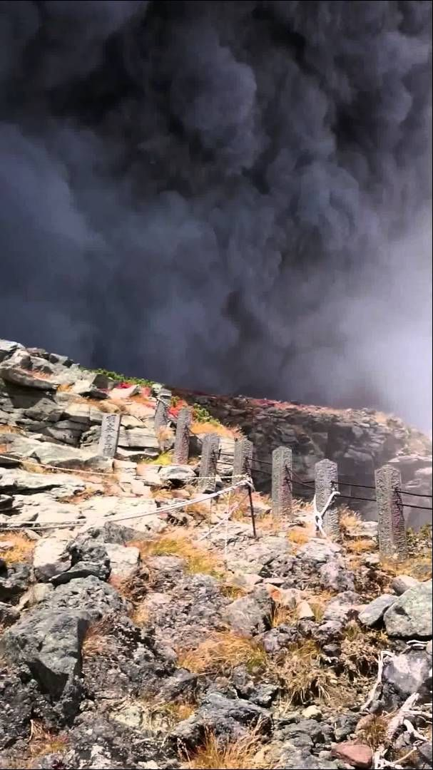 Ontakesan major eruption! JAPAN