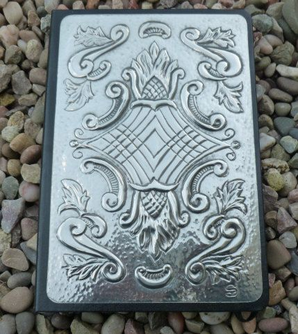 A5 Journal with Vintage Style Pewter Detail by PewterConcepts