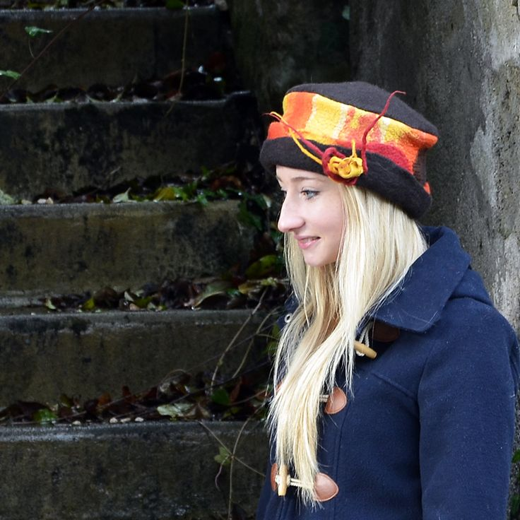 multicolored felt hat art hats felted hat felt hats by jannio