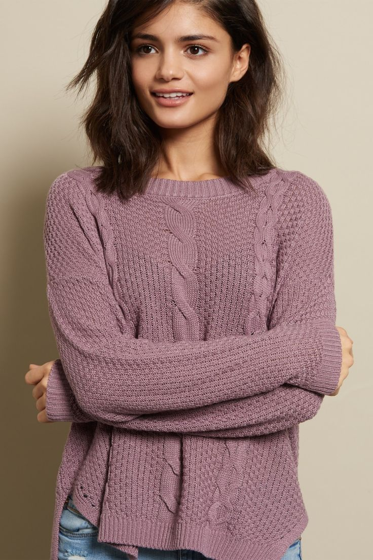 Who doesn't love a good sweater? - Boxy Cable Sweater