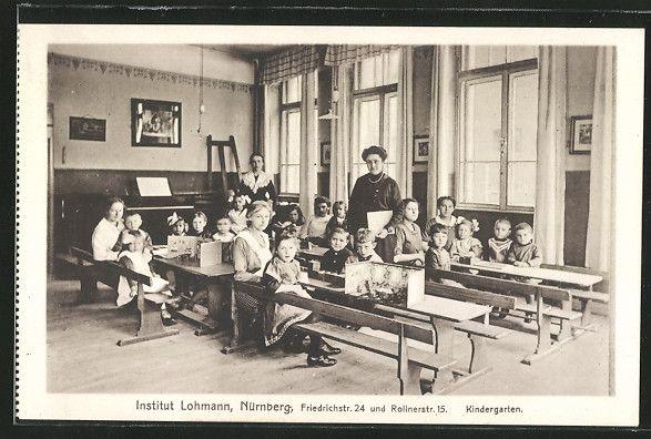 alte AK Nürnberg, Institut Lohmann, Kindergarten, Kinder, Erzieherinnen | eBay