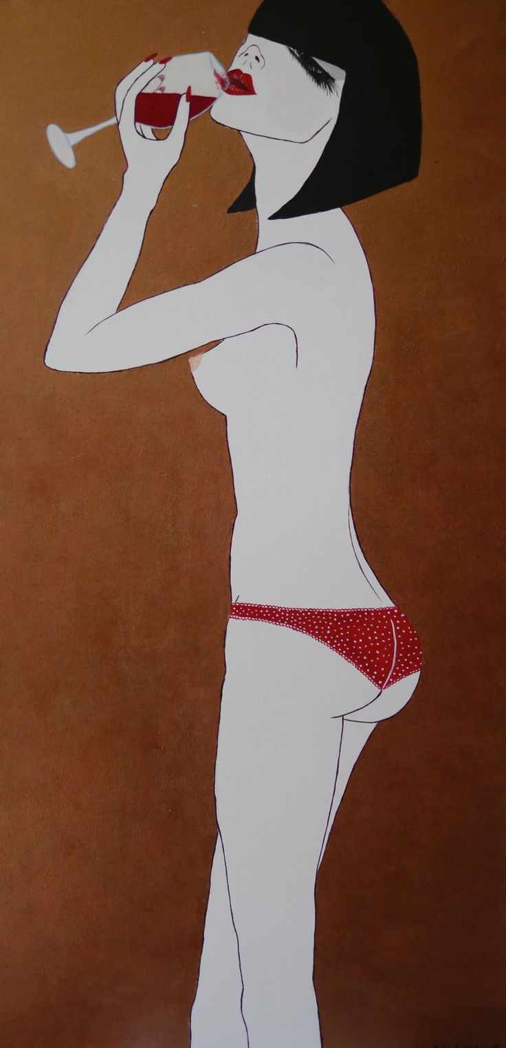 Girl With Attitude #3 Acrylic On Canvas 48x24 $1650 CAD